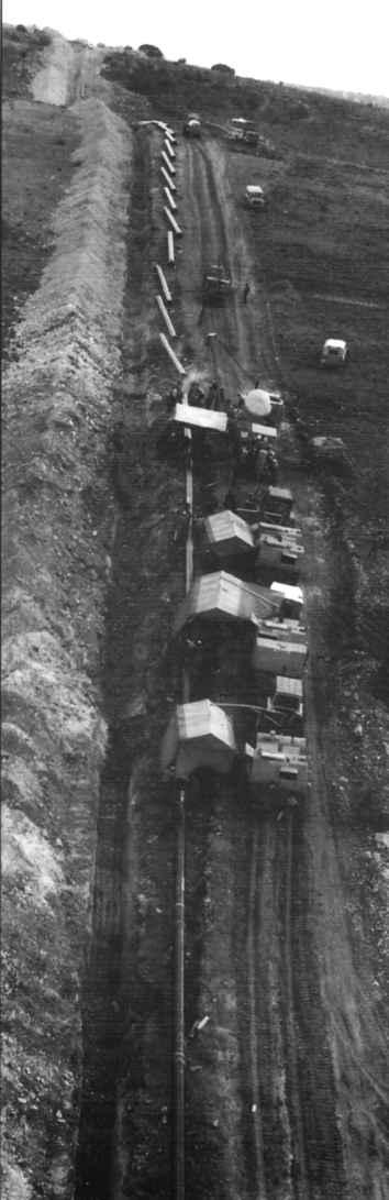 Instalación del gaseoducto