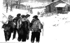Ronda marcera. Dibujo de M. Pedrero, 1901